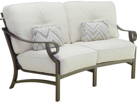 Castelle Sonesta Deep Seating Cast Aluminum Cushion Loveseat with Two Accent Pillows