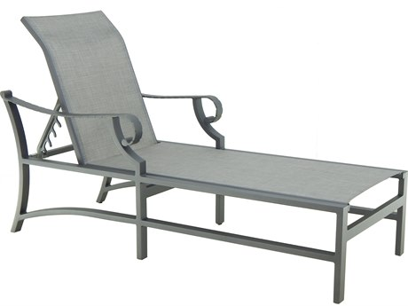 Castelle Sonesta Sling Cast Aluminum Adjustable Chaise Lounge