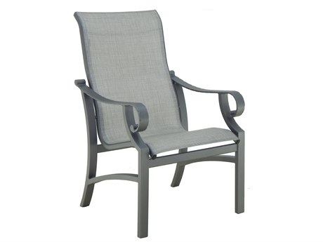 Castelle Sonesta Sling Cast Aluminum Dining Chair
