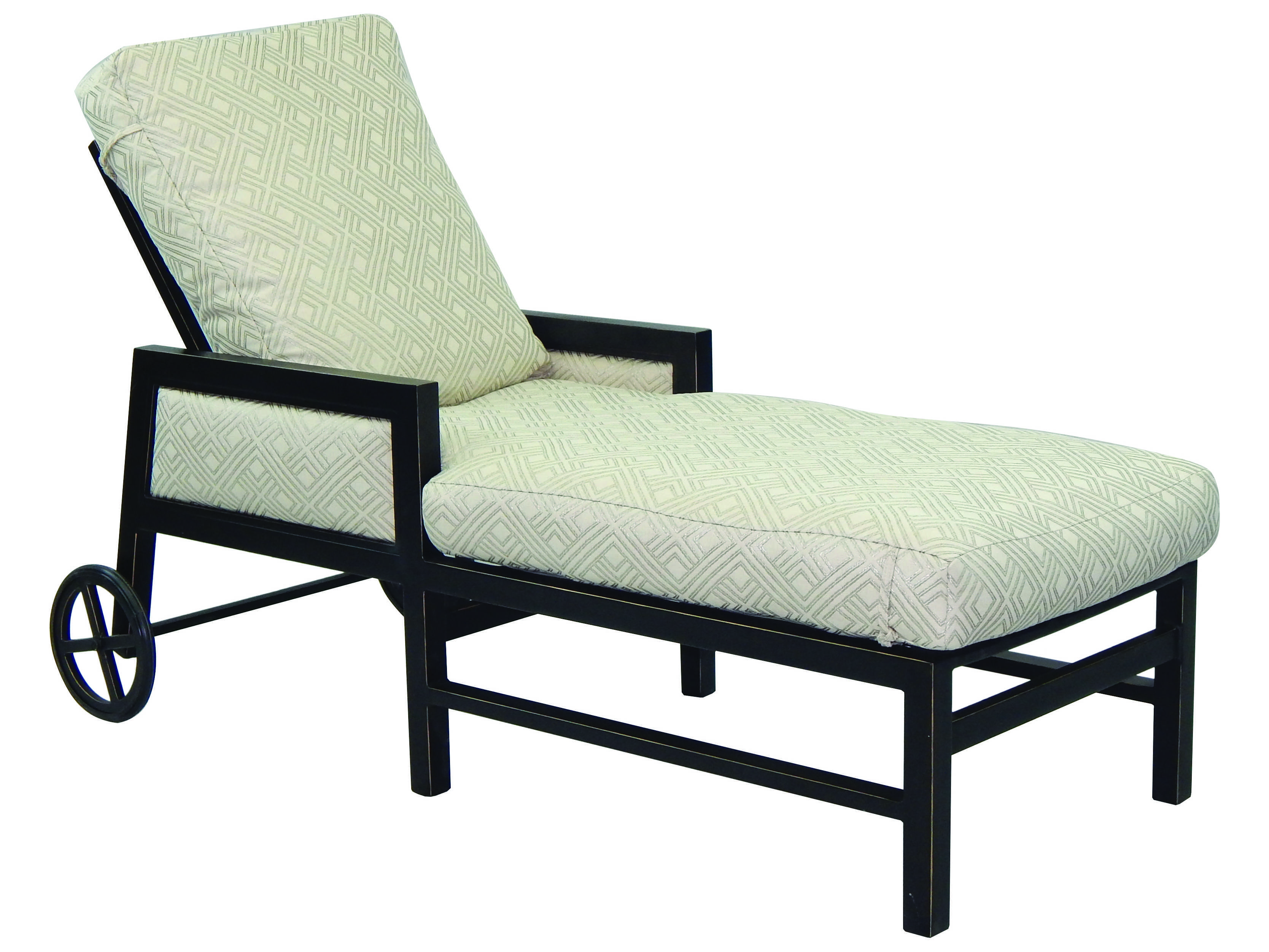 Castelle gold coast cushion aluminum adjustable chaise for Aluminum chaise lounge with wheels