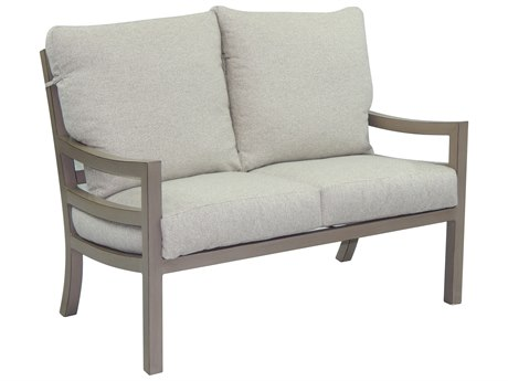 Castelle Roma Cushion Aluminum Loveseat