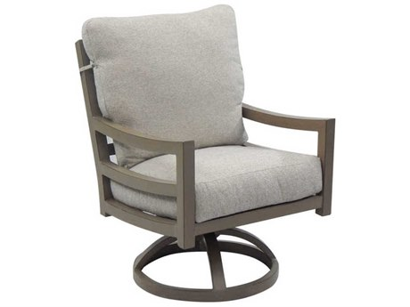 Castelle Roma Cushion Aluminum Swivel Rocker