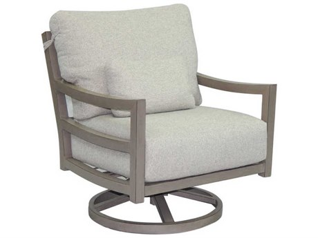 Castelle Roma Deep Seating Aluminum Lounge Swivel Rocker with One Kidney Pillow