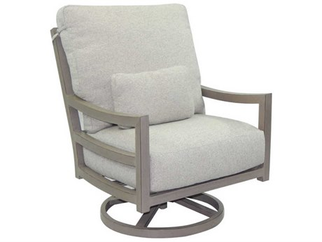 Castelle Roma Deep Seating Aluminum High Back  Lounge Swivel Rocker