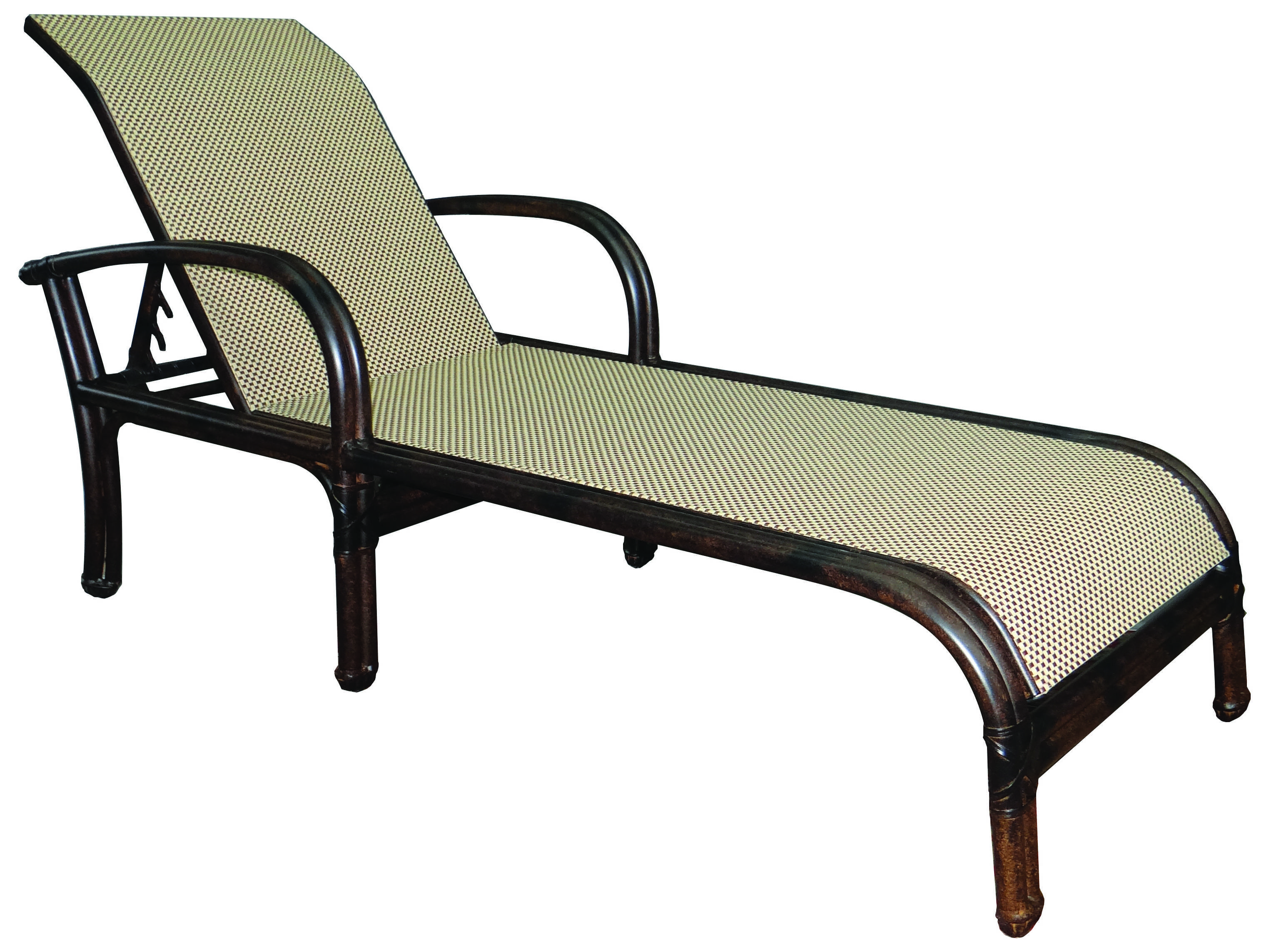 Castelle meridian sling aluminum adjustable chaise lounge for Aluminum chaise lounge with wheels