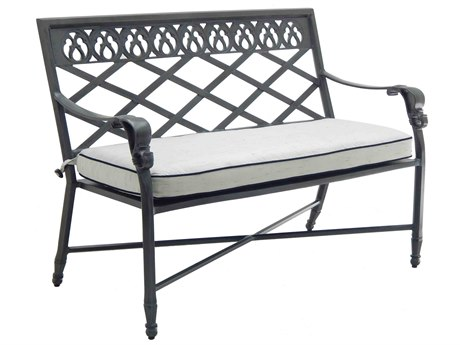 Castelle Biltmore Estate Cast Aluminum Loveseat with One Seat Cushion