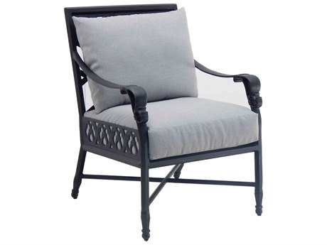 Castelle Biltmore Estate Cast Cushion Auminum Dining Chair PatioLiving
