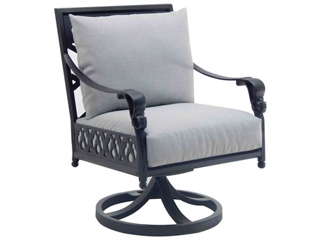 Castelle Biltmore Estate Cast Cushion Aluminum Swivel Rocker PatioLiving