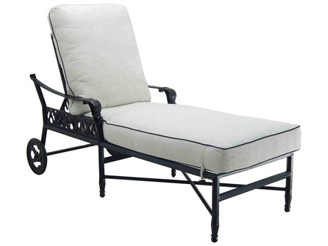 Castelle Biltmore Estate Cast Aluminum Adjustable Chaise Lounge with Wheels PF9A12R