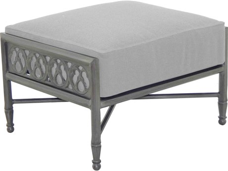 Castelle Biltmore Estate Deep Seating Cast Aluminum Ottoman PatioLiving