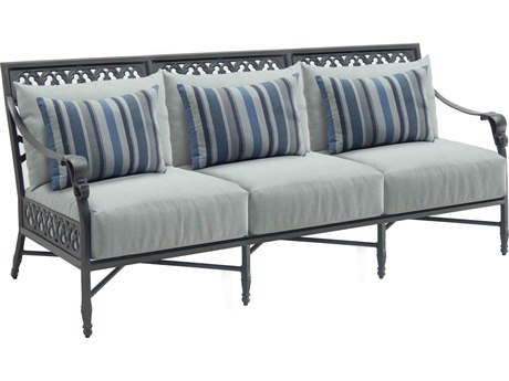 Castelle Biltmore Estate Deep Seating Cast Aluminum Sofa