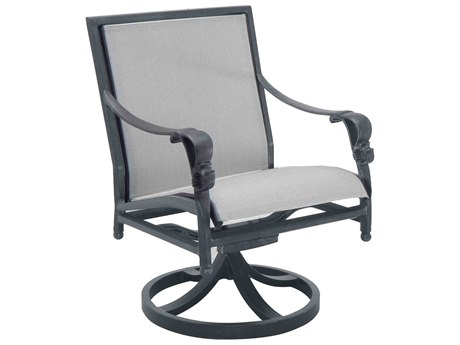 Castelle Biltmore Estate Sling Cast Aluminum Swivel Rocker PatioLiving