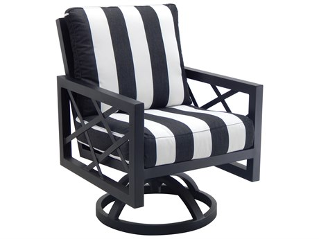 Castelle Barclay Butera Palm Springs Cushion Dining Aluminum Swivel Rocker PF9B07B