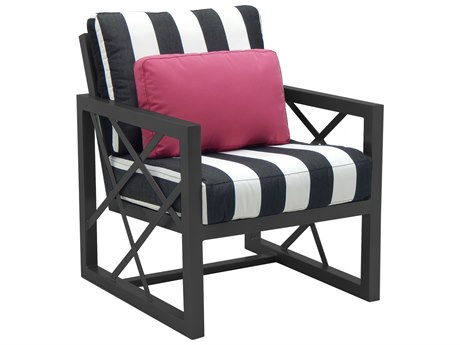 Castelle Barclay Butera Palm Springs Deep Seating Aluminum Lounge Chair with One Accent Pillow PF9B10B