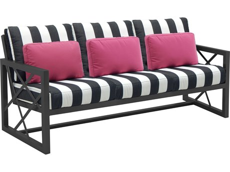 Castelle Barclay Butera Palm Springs Deep Seating Aluminum Sofa with Three Pillows