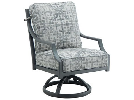 Castelle Lancaster Cushion Aluminum Swivel Rocker PatioLiving