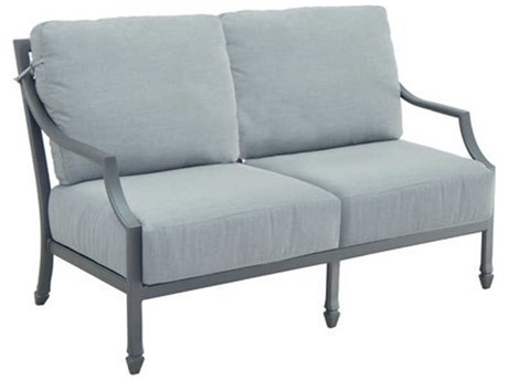 Castelle Lancaster Deep Seating Aluminum Loveseat PatioLiving