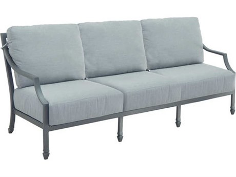 Castelle Lancaster Deep Seating Aluminum Sofa PatioLiving