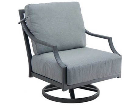 Castelle Lancaster Deep Seating Aluminum Lounge Swivel Rocker PatioLiving