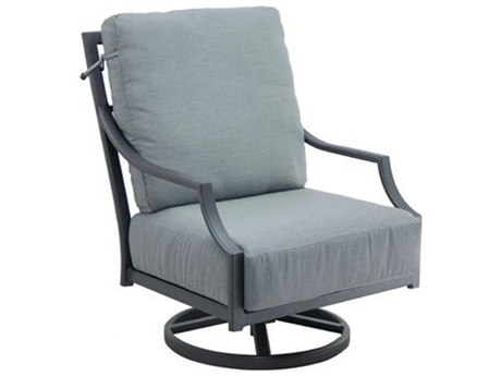 Castelle Lancaster Deep Seating Aluminum Ultra High Back Lounge Chair
