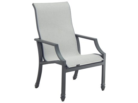 Castelle Lancaster Sling Aluminum Dining Chair PatioLiving