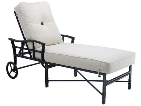 Castelle Resort Fusion Cushion Aluminum Adjustable Chaise Lounge PF9D12T