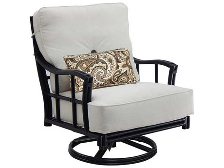 Castelle Resort Fusion Deep Seating Aluminum High Back Swivel Rocker Lounge Chair PatioLiving