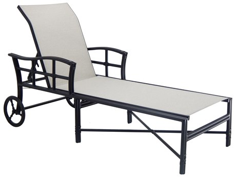 Castelle Resort Fusion Sling Aluminum Chaise Lounge PatioLiving