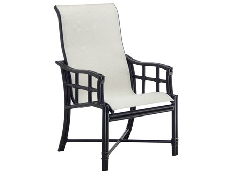 Castelle Resort Fusion Sling Aluminum Dining Arm Chair PatioLiving