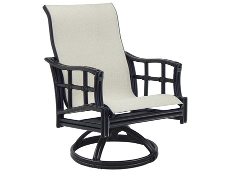 Castelle Resort Fusion Sling Aluminum Swivel Rocker