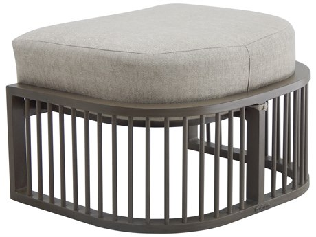 Castelle Avenue Deep Seating Aluminum Ottoman PatioLiving