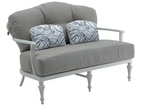 Castelle Madeleine Deep Seating Aluminum Loveseat