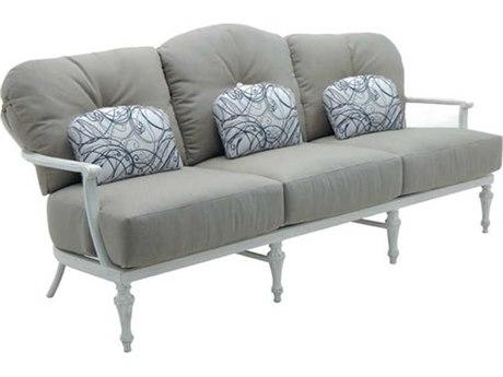 Castelle Madeleine Deep Seating Aluminum Sofa