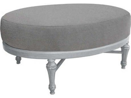Castelle Madeleine Deep Seating Aluminum Oval Ottoman