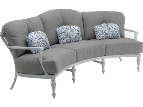 Castelle Madeleine Deep Seating Aluminum Crescent Sofa