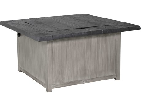 Castelle Biltmore Antler Hill Aluminum 44''Wide Square Coffee Fire Pit Table