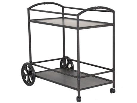 Biltmore Antler Hill Smooth Aluminum Serving Cart