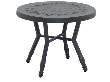 Castelle Biltmore Estate Cast Aluminum 24''Wide Round Occasional Table PatioLiving