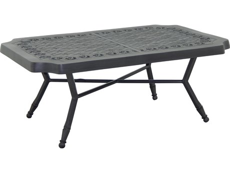 Castelle Biltmore Estate Cast Aluminum 34''W x 18''D Rectangular Small Coffee Table PatioLiving