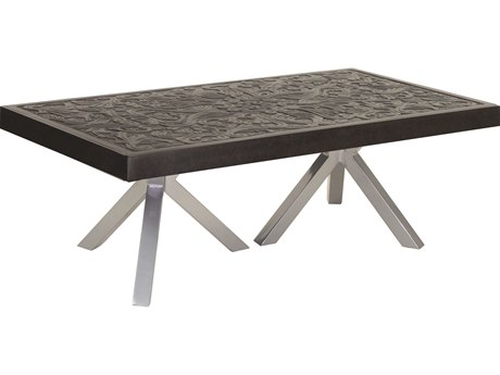 Castelle Altra Aluminum 48-50W x 32-34D Large Rectangular Coffee Table PFARC3248