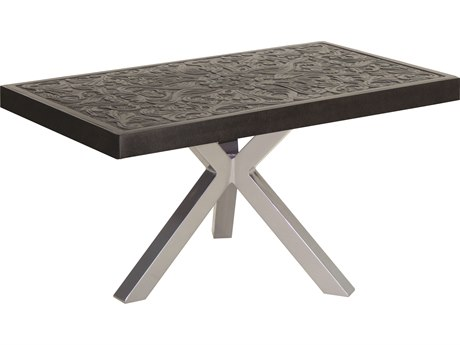 Castelle Altra Aluminum 34-36W x 18-20D Small Rectangular Coffee Table