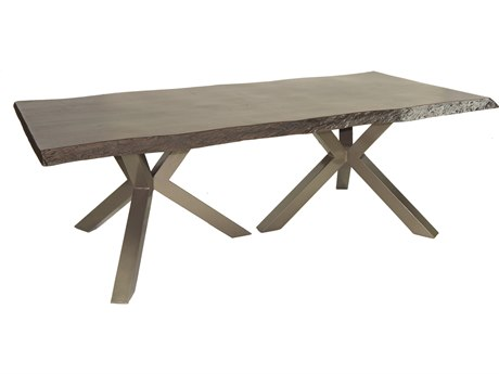 Castelle Altra Aluminum 84-86W x 44D Rectangular Dining Table