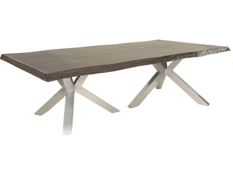 Castelle Altra Aluminum 108W x 49-56D Rectangular Dining Table (RTA)