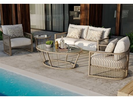 Castelle Avenue Deep Seating Aluminum Lounge Set
