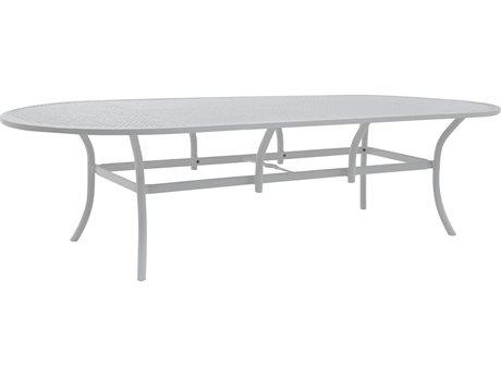 Castelle Barclay Butera Savannah Aluminum 108''W x 49''D Oval Dining Table