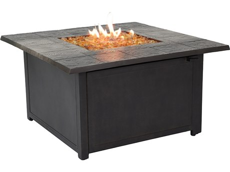 Biltmore Preserve Aluminum 40'' Wide Square Fire Pit Coffee Table