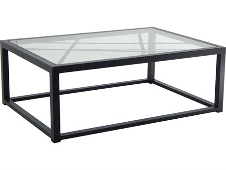 Castelle Barclay Butera Palm Springs Aluminum 48''W x 32''D Rectangular Coffee Table PFB9RC3248