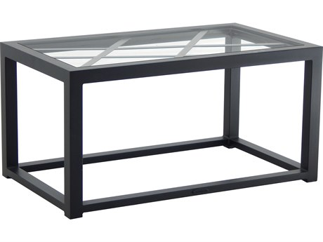 Castelle Barclay Butera Palm Springs Aluminum 34''W x 18''D Rectangular Coffee Table PFB9RC3418