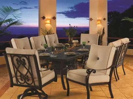 Castelle Bellanova Cushion Cast Aluminum Lounge Set