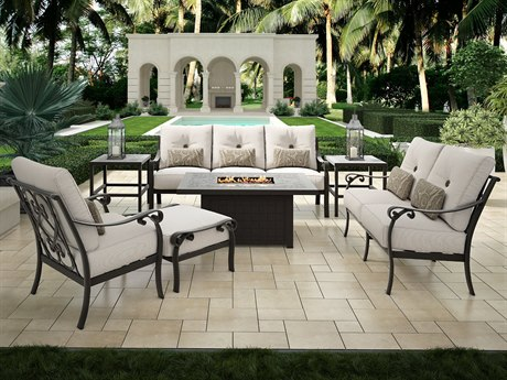 Bellanova Deep Seating Cast Aluminum Cushion Lounge Set
